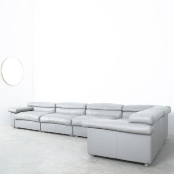 Afra & Tobia Scarpa Erasmo Leather Sofa 15