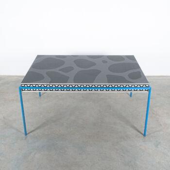 Michele De Lucchi Burgundy Table Memphis 11