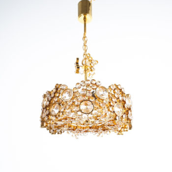 Palwa encrusted Brass glass chandelier _01