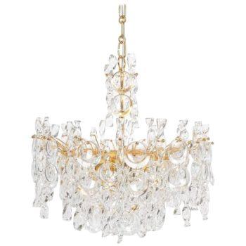 Palwa tendril ribbon chandelier gilt brass
