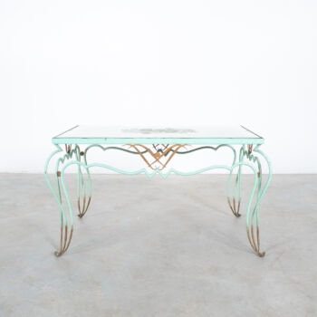 René Drouet Rene Iron Mirror Table 01