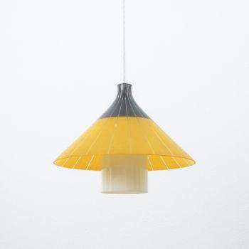 Yellow White Glass Pendant 03