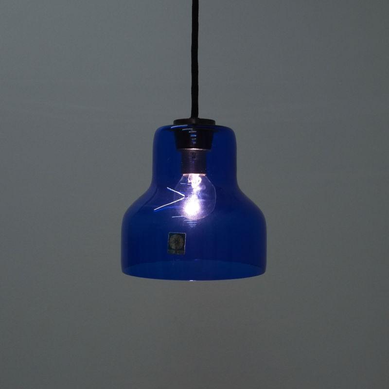 5x Murano Blue Glass Pendants 01