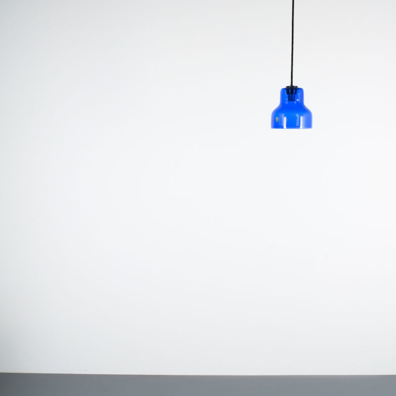 5x Murano Blue Glass Pendants 04