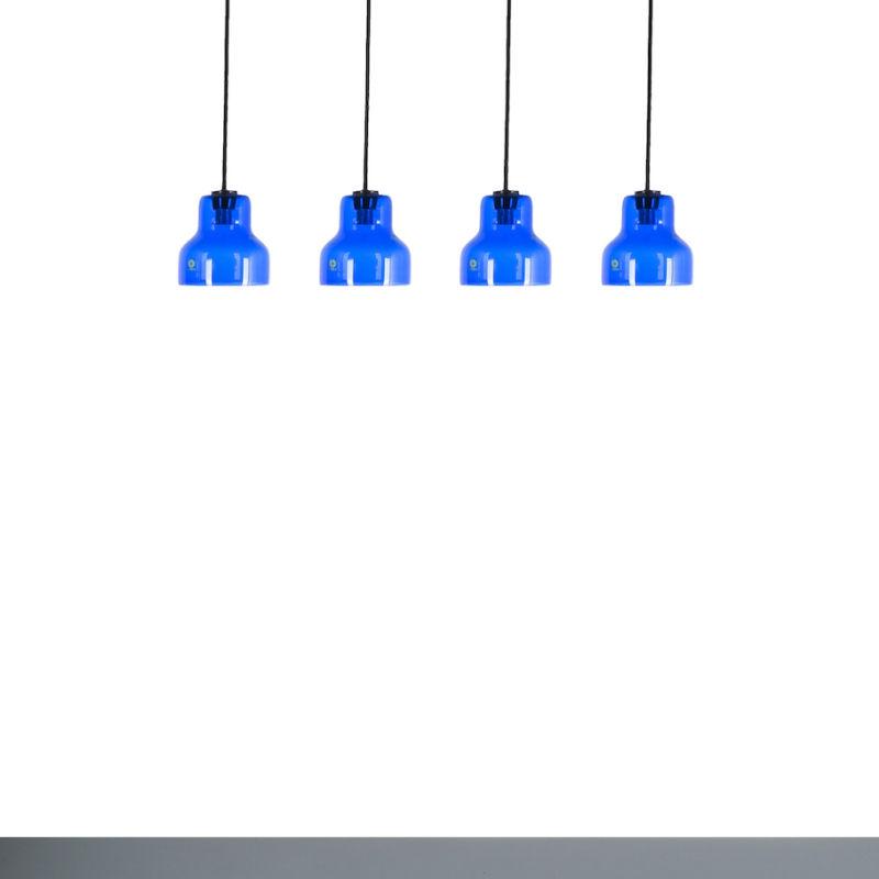 5x Murano Blue Glass Pendants 06