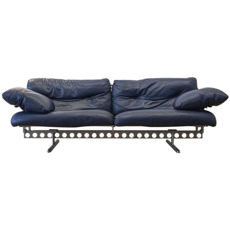 Pierluigi Cerri Ouverture Leather Sofa for Poltrona Frau,