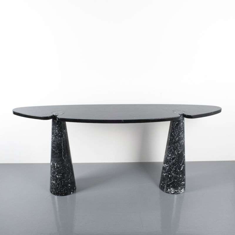 928 Eros Mangiarotti Console Table Marble Black 04