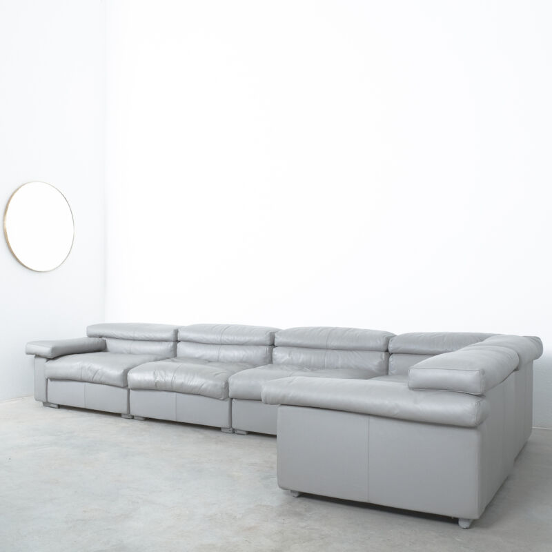 Afra Tobia Scarpa Erasmo Leather Sofa 01