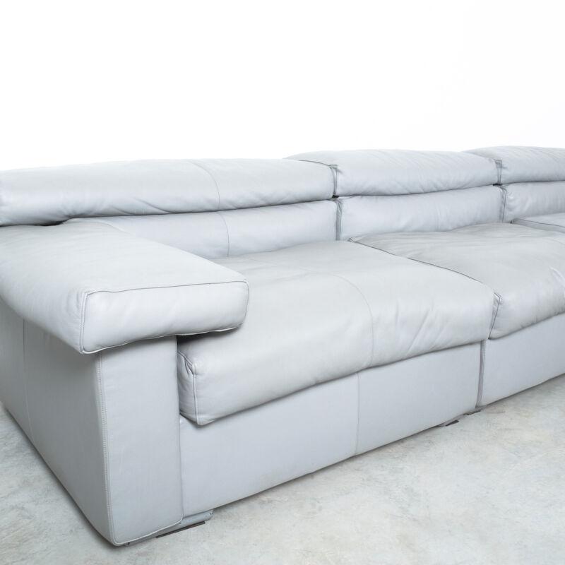 Afra Tobia Scarpa Erasmo Leather Sofa 02