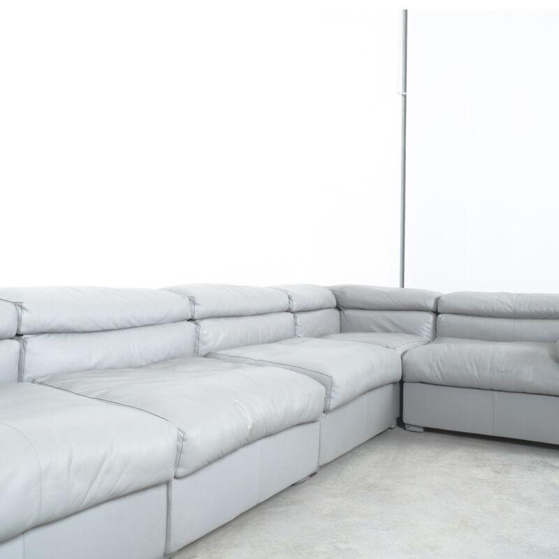 Afra Tobia Scarpa Erasmo Leather Sofa 03