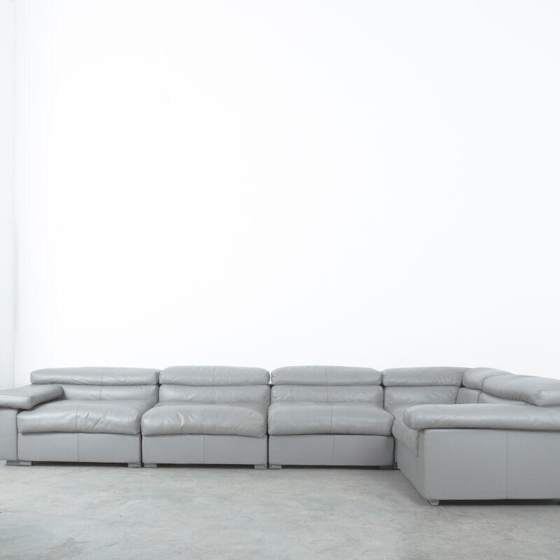 Afra Tobia Scarpa Erasmo Leather Sofa 04