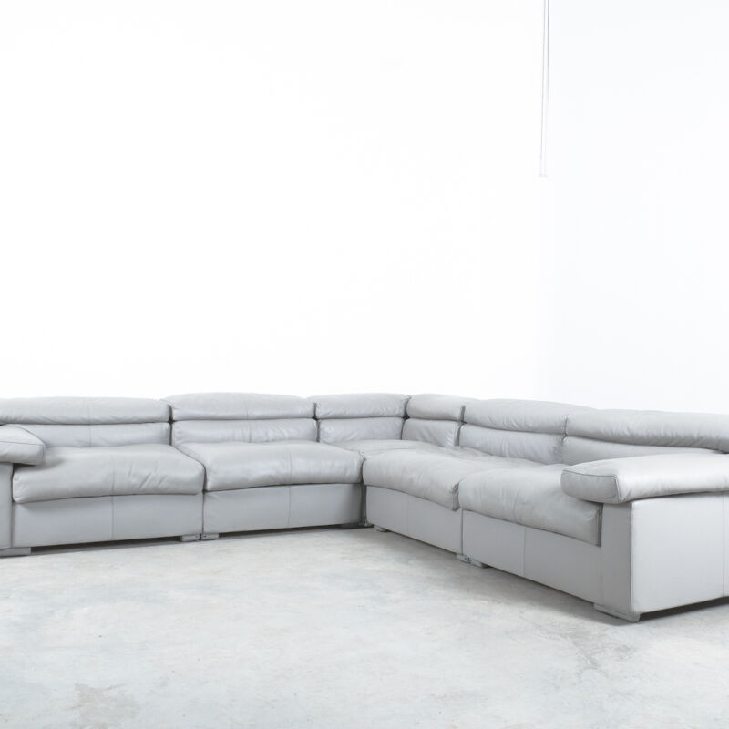 Afra Tobia Scarpa Erasmo Leather Sofa 05