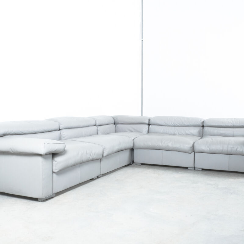 Afra Tobia Scarpa Erasmo Leather Sofa 06