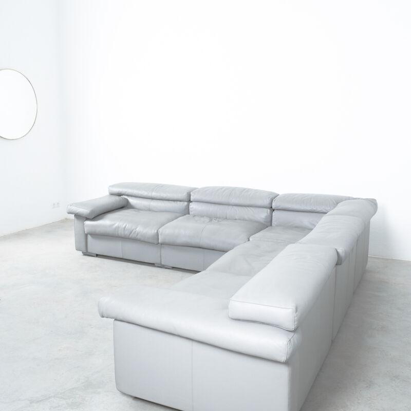 Afra Tobia Scarpa Erasmo Leather Sofa 09