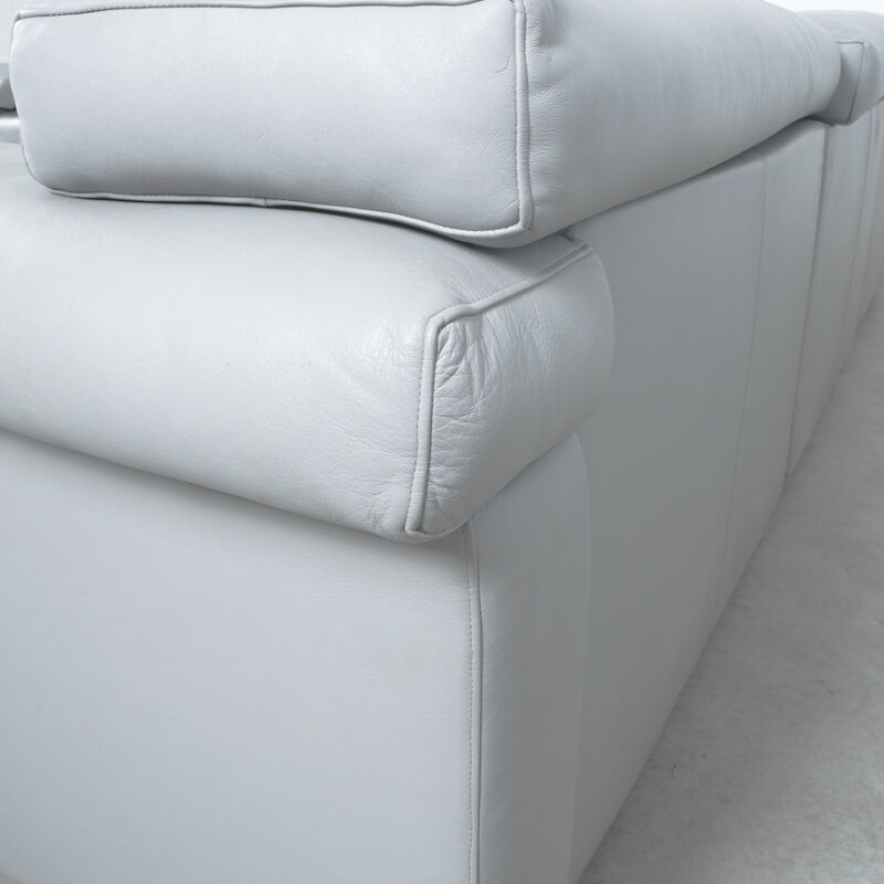 Afra Tobia Scarpa Erasmo Leather Sofa 11
