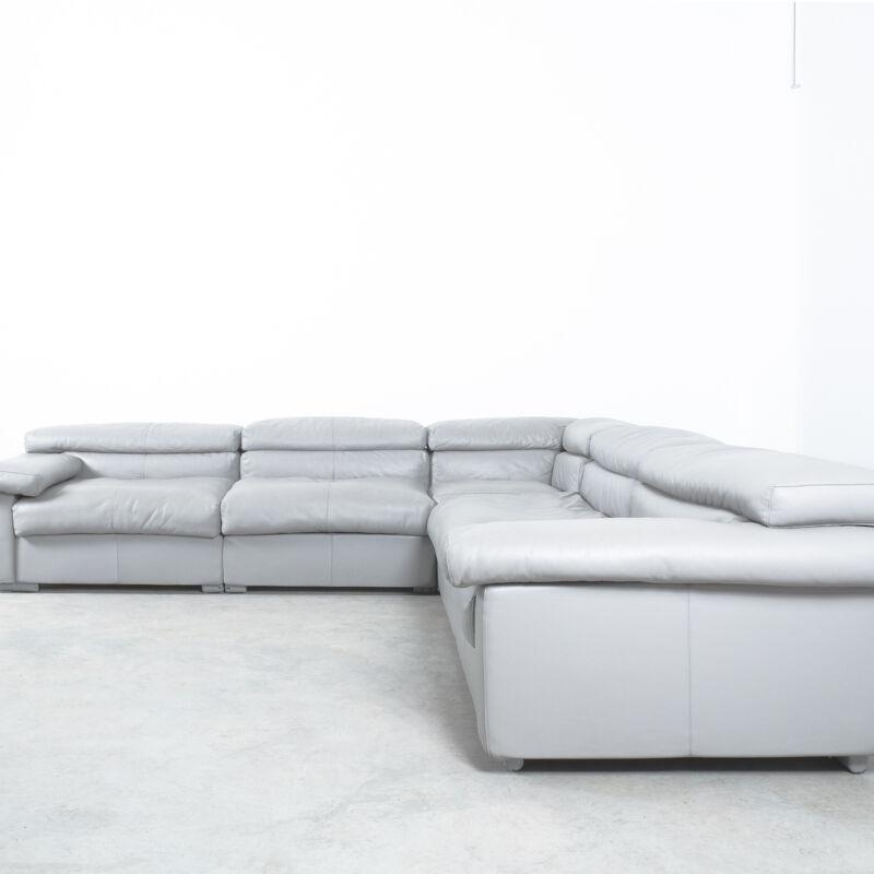 Afra Tobia Scarpa Erasmo Leather Sofa 12