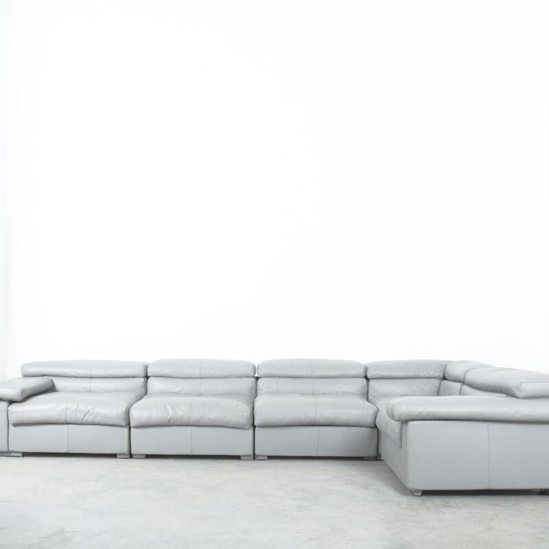 Afra Tobia Scarpa Erasmo Leather Sofa 13