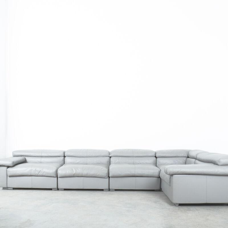 Afra Tobia Scarpa Erasmo Leather Sofa 14