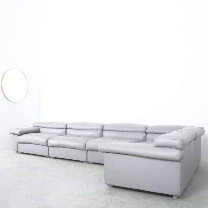 Afra & Tobia Scarpa Erasmo Leather Sofa 15