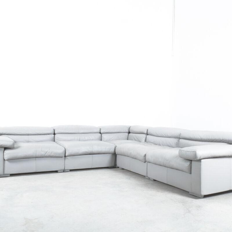 Afra Tobia Scarpa Erasmo Leather Sofa 16