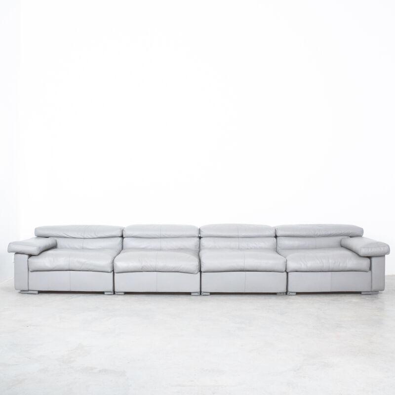 Afra Tobia Scarpa Erasmo Leather Sofa 18