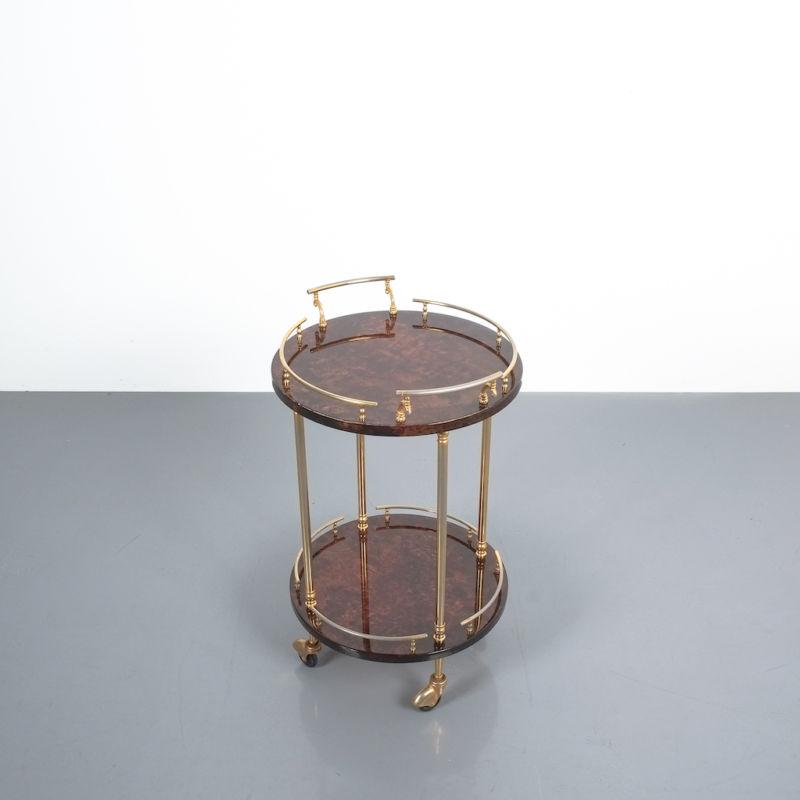 Aldo Tura Small Cart Brown 04