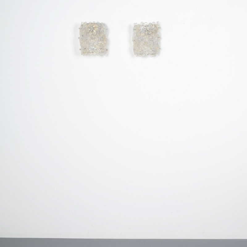 Barovier 3x Flower Glass Sconces 01