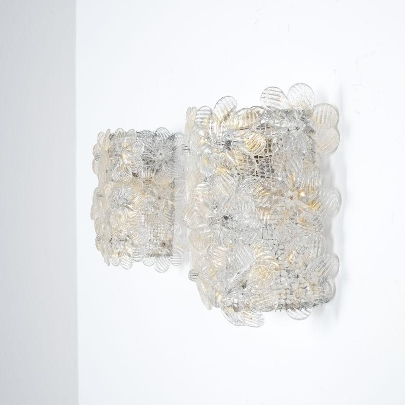 Barovier 3x Flower Glass Sconces 04