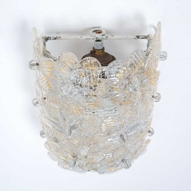 Barovier 3x Flower Glass Sconces 05