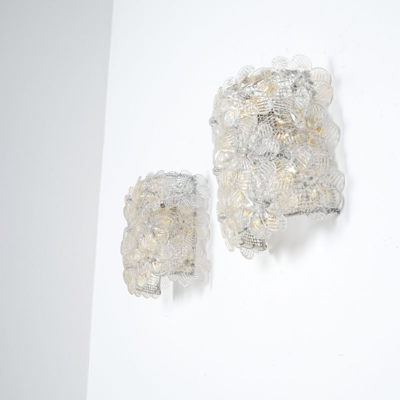 Barovier 3x Flower Glass Sconces 06