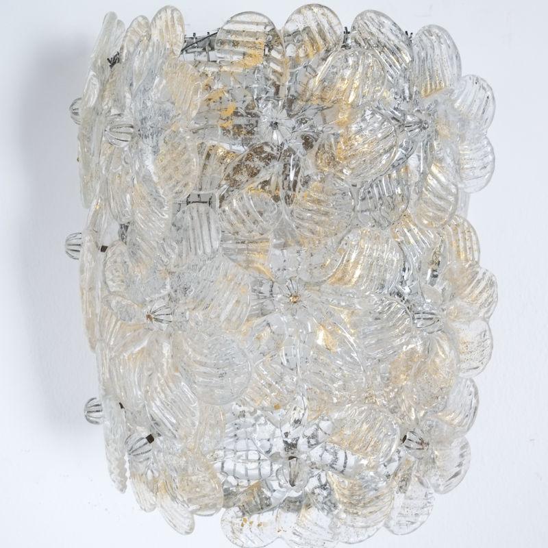 Barovier 3x Flower Glass Sconces 07