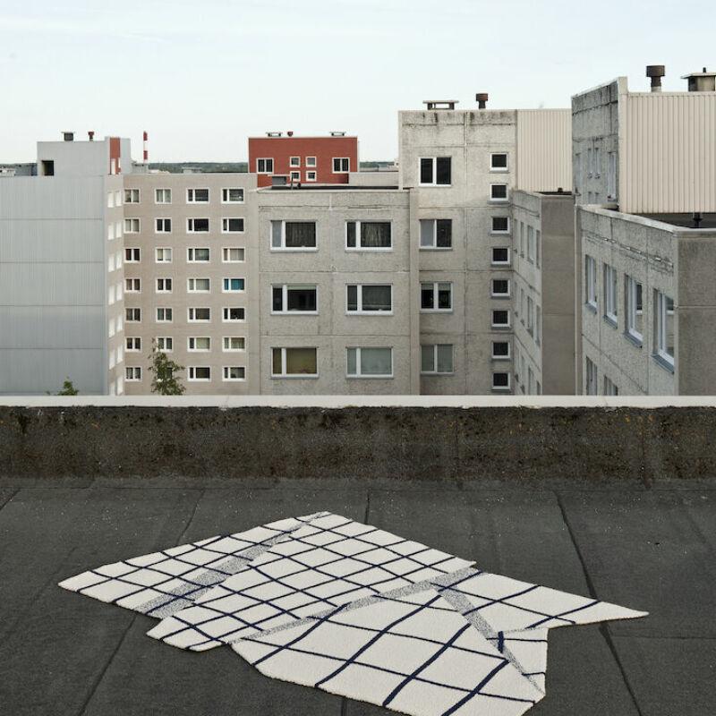 Black Grid Ulfsak Rug 04
