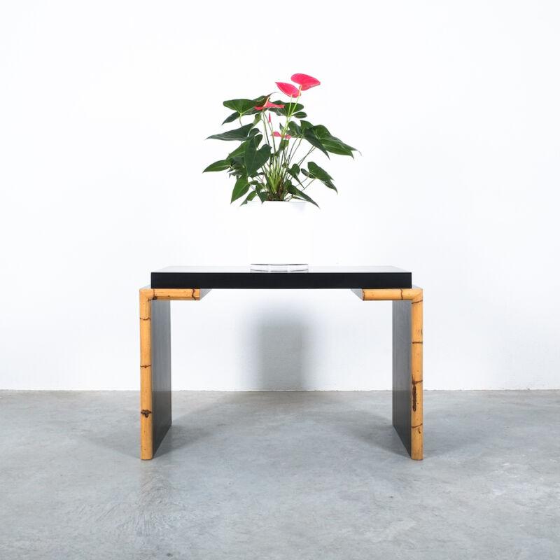 Branzi Style Blck Bamboo Desk 1980 01
