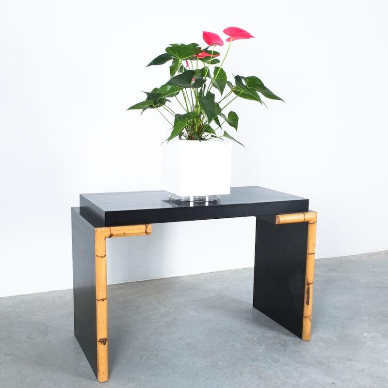 Branzi Style Blck Bamboo Desk 1980 02