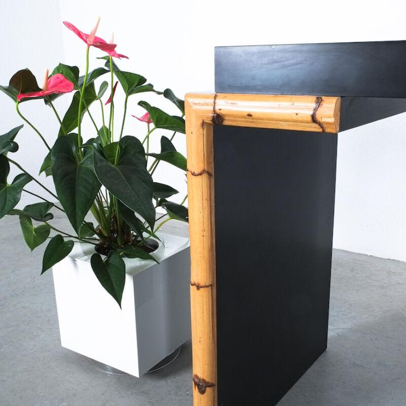 Branzi Style Blck Bamboo Desk 1980 03
