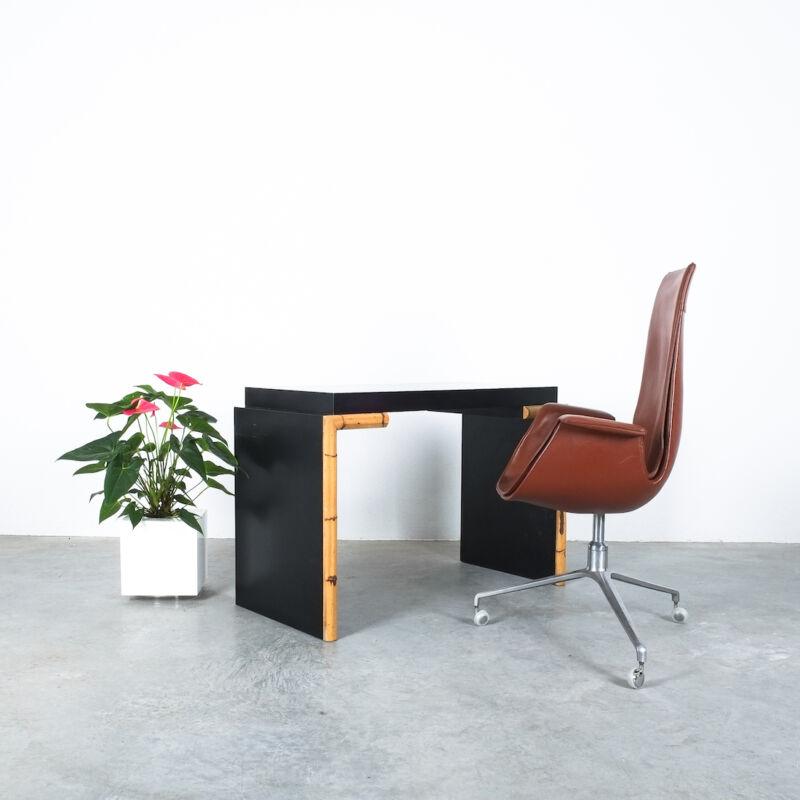 Branzi Style Blck Bamboo Desk 1980 04