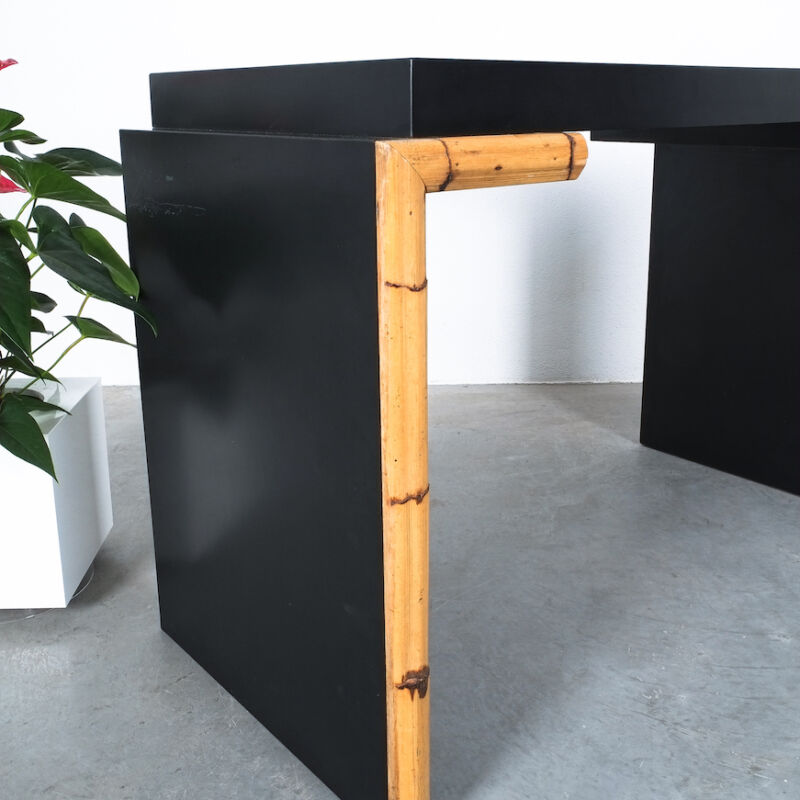 Branzi Style Blck Bamboo Desk 1980 05