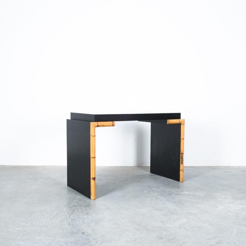 Branzi Style Blck Bamboo Desk 1980 06