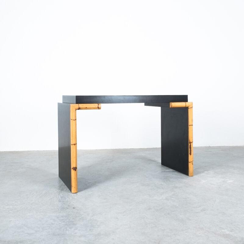 Branzi Style Blck Bamboo Desk 1980 08