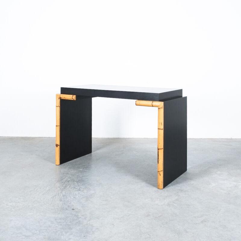 Branzi Style Blck Bamboo Desk 1980 12