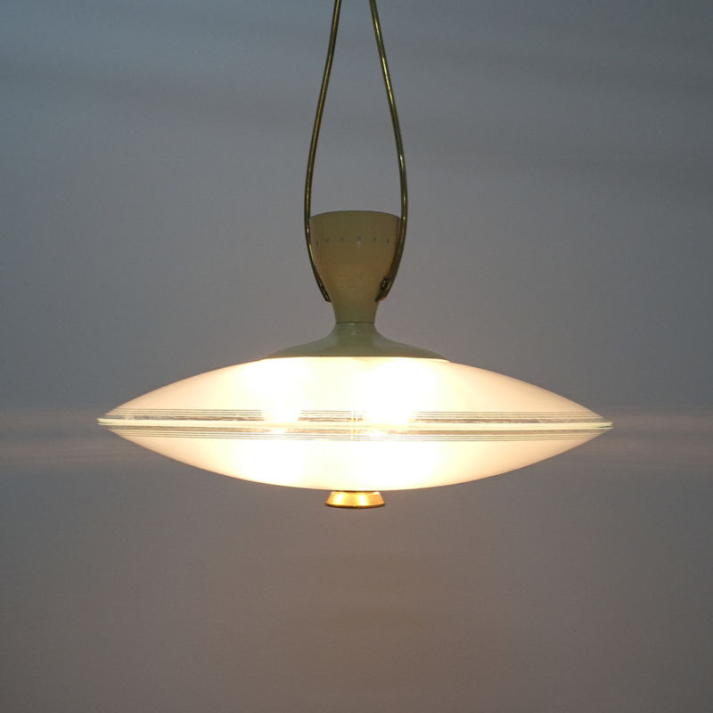 Brusotti Chandelier Glass Yellow 1950 01