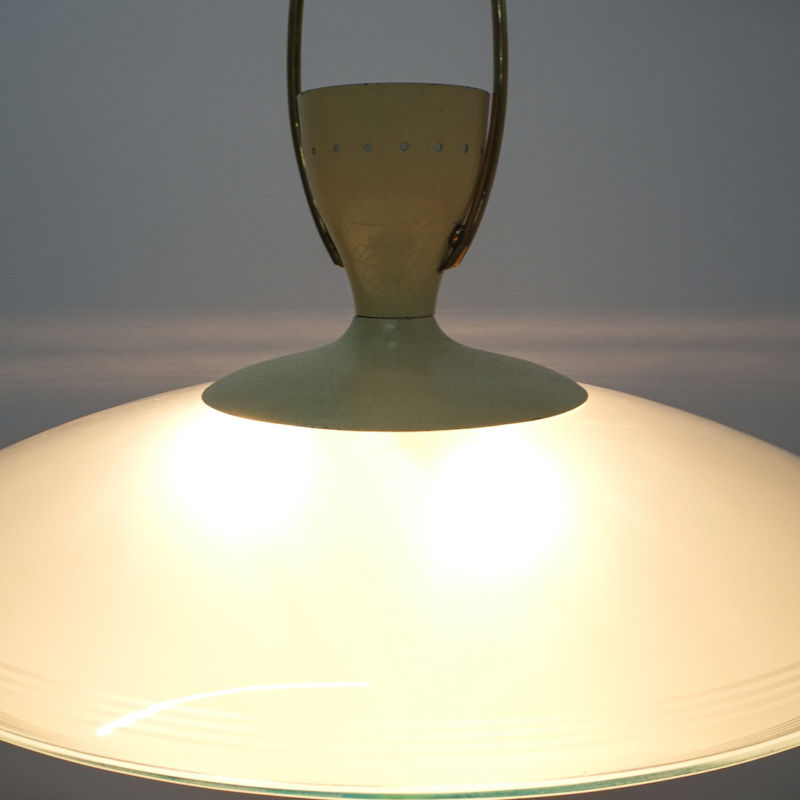 Brusotti Chandelier Glass Yellow 1950 02
