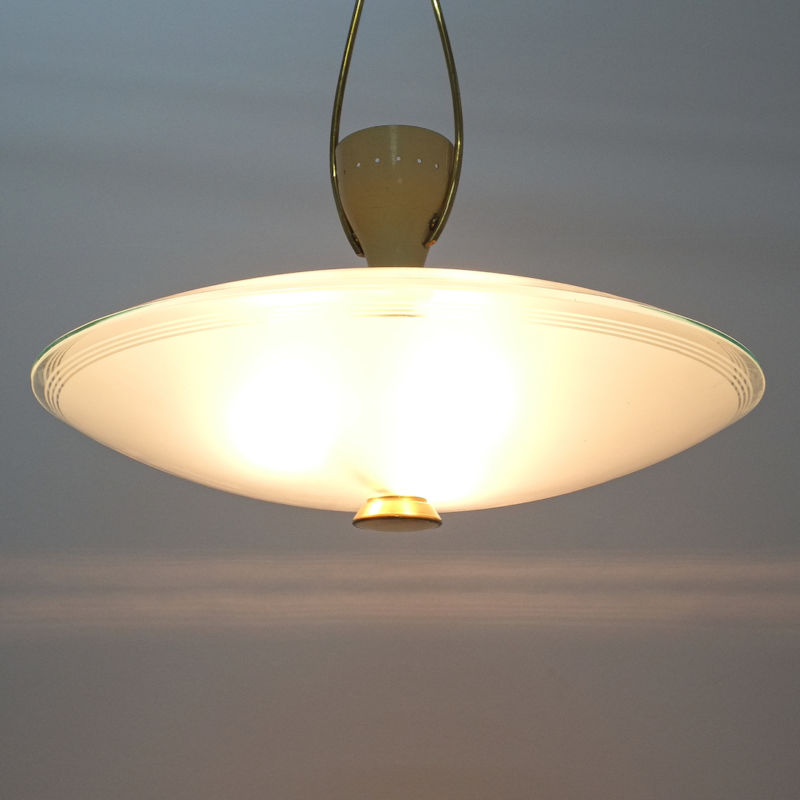 Brusotti Chandelier Glass Yellow 1950 03