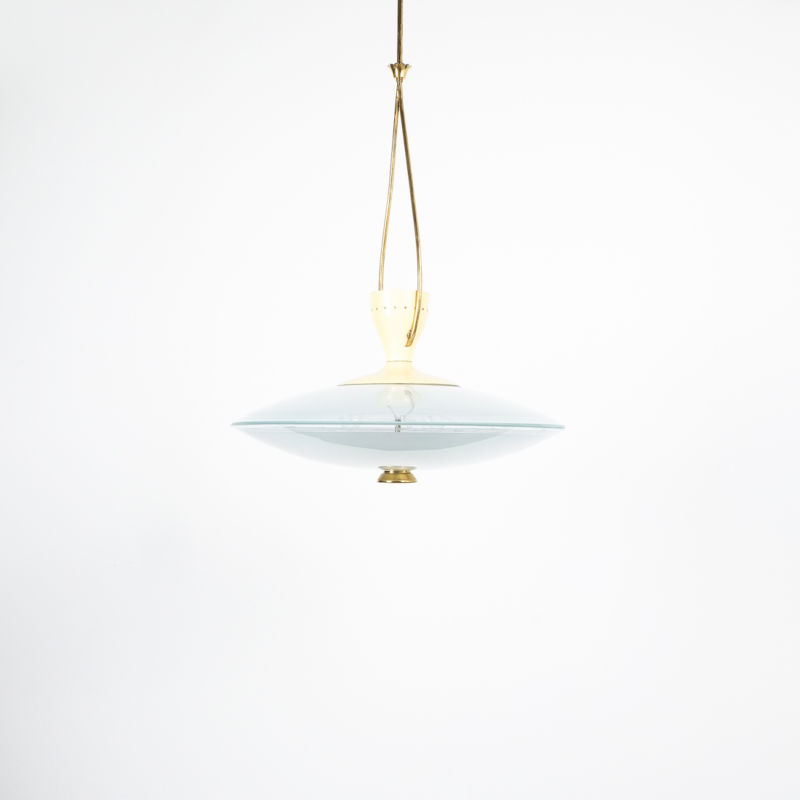 Brusotti Chandelier Glass Yellow 1950 04