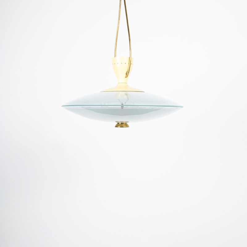 Brusotti Chandelier Glass Yellow 1950 05
