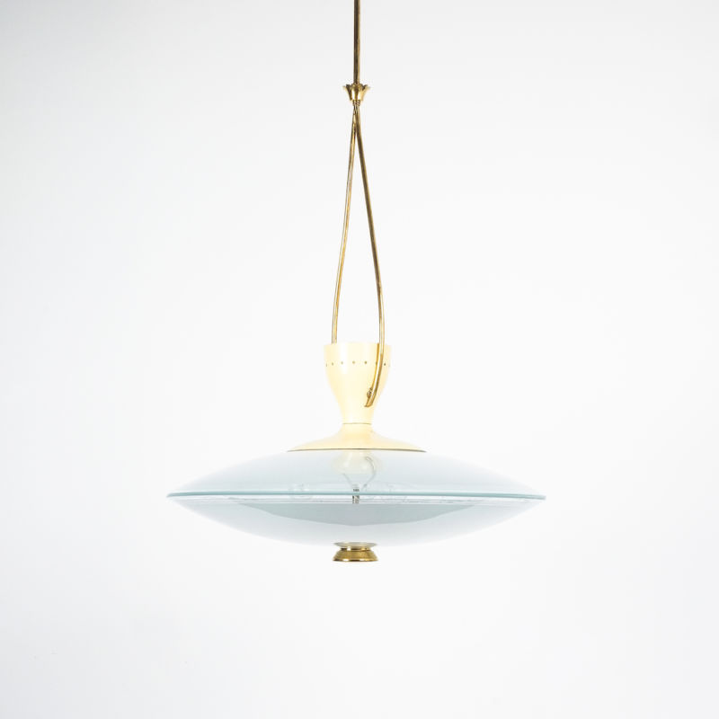 Brusotti Chandelier Glass Yellow 1950 06