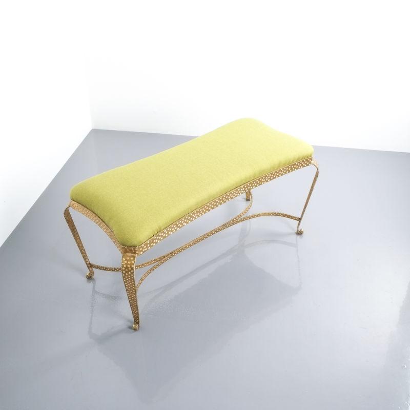 Colli bench green fabric 1 Kopie