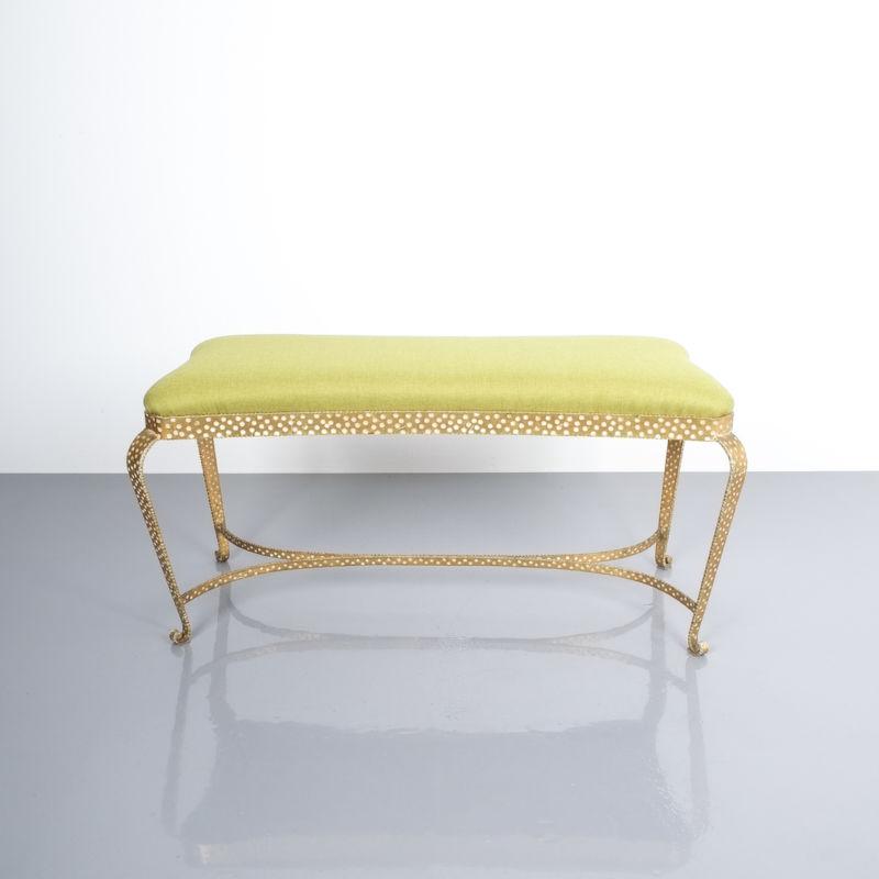 Colli bench green fabric 3 Kopie
