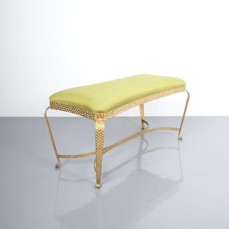 Colli bench green fabric 6 Kopie