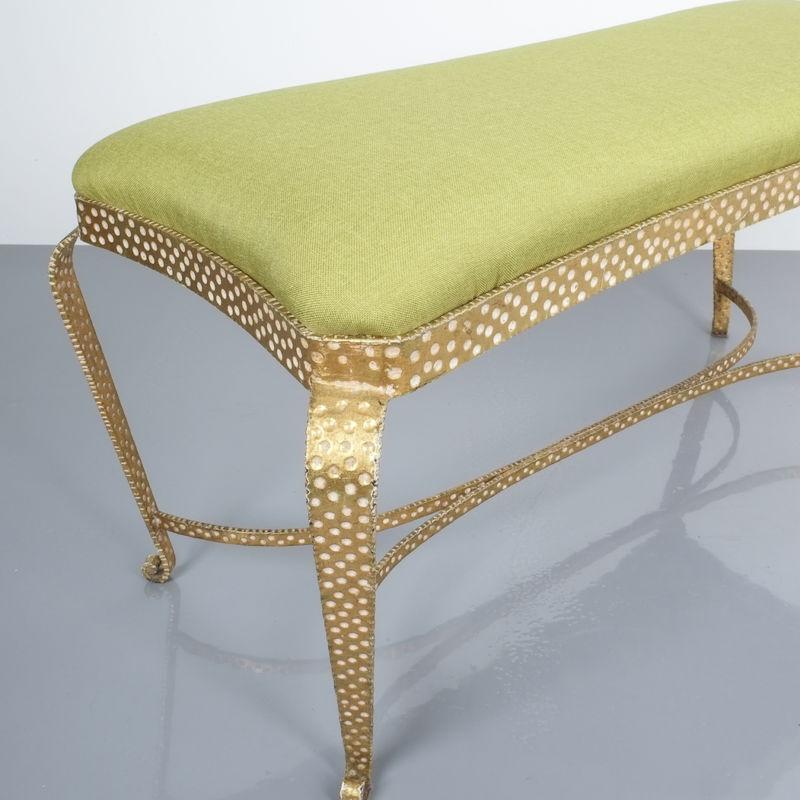 Colli bench green fabric 8 Kopie